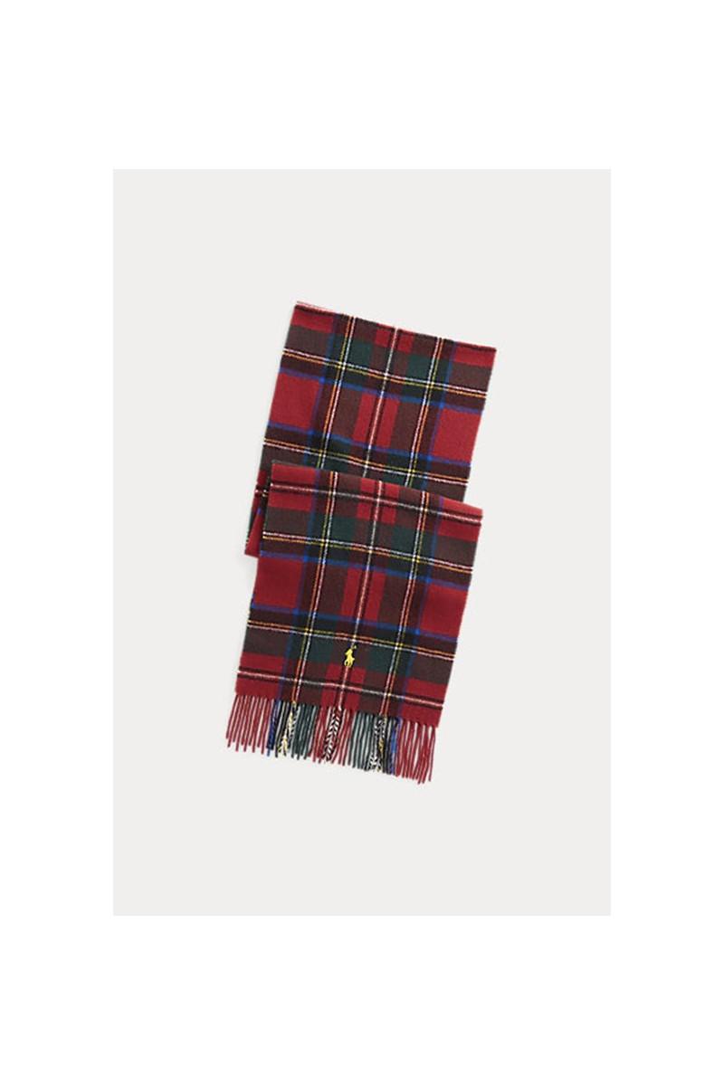 Polo oblong scarf tartan Red stewart