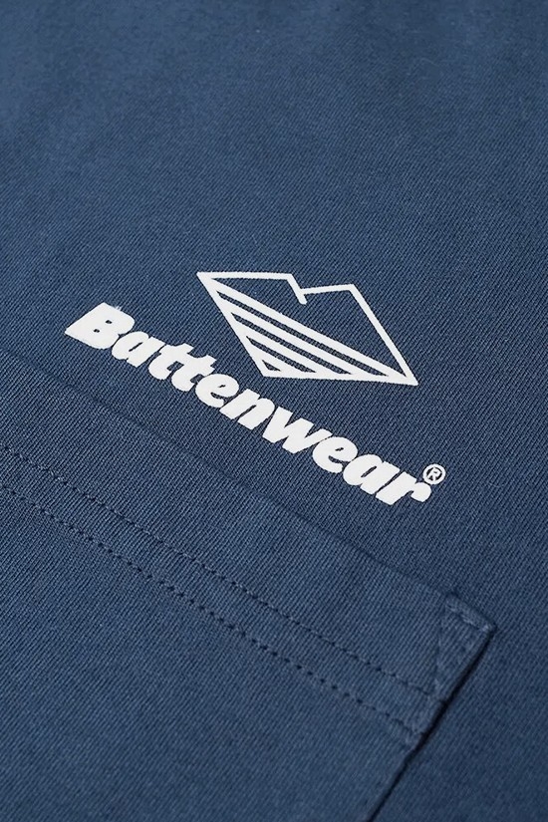 BATTENWEAR / Team l/s basic pocket tee Navy