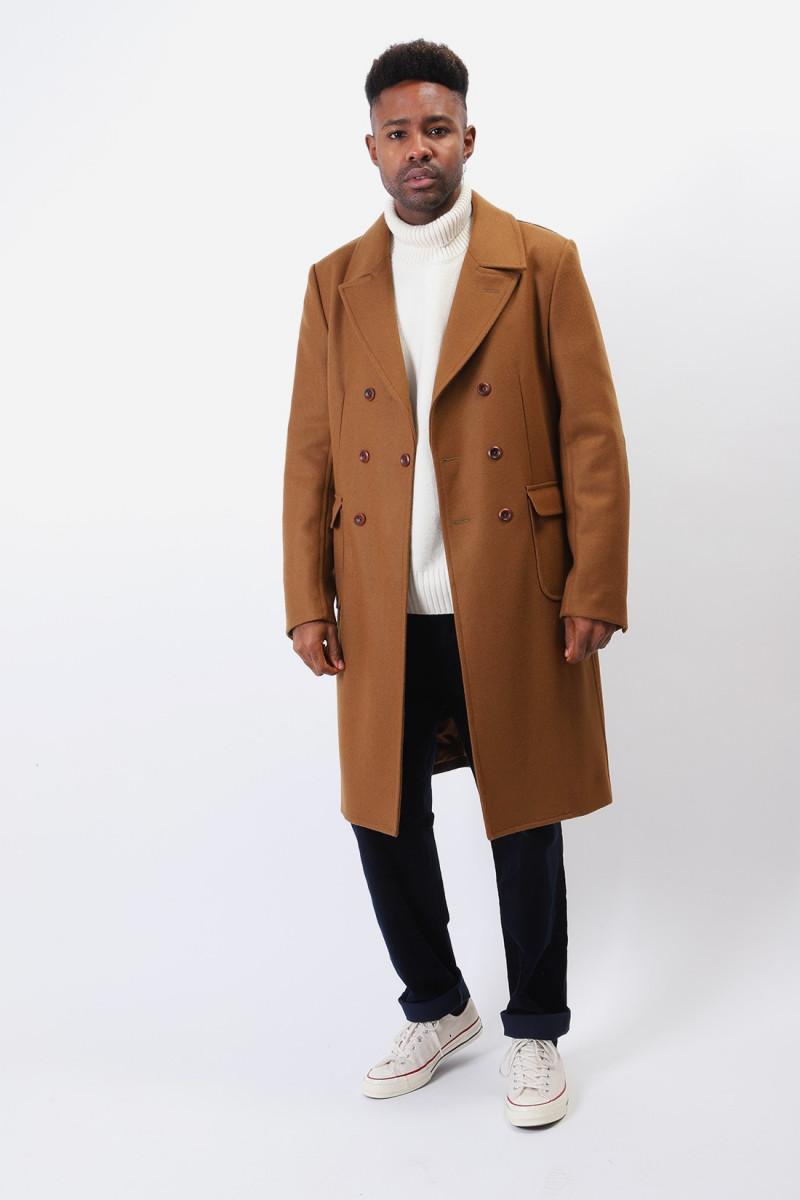 Wf-c016-051 classic wool coat Brown