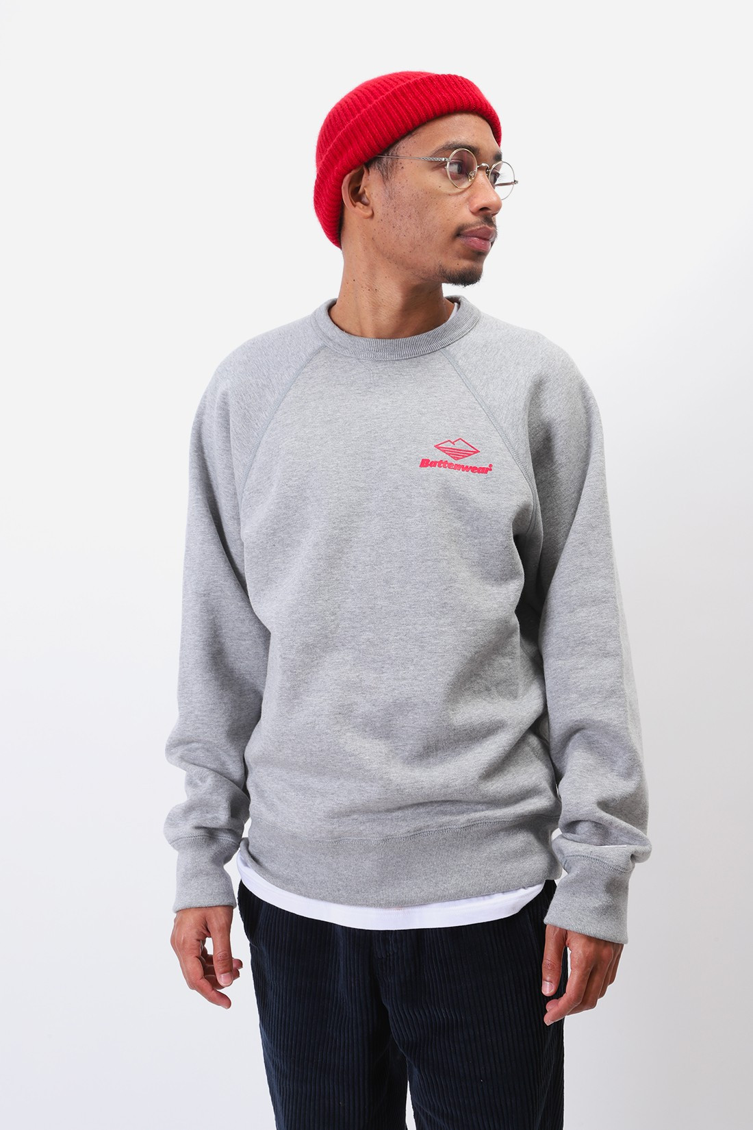 BATTENWEAR / Team reach up sweatshirt Heather grey