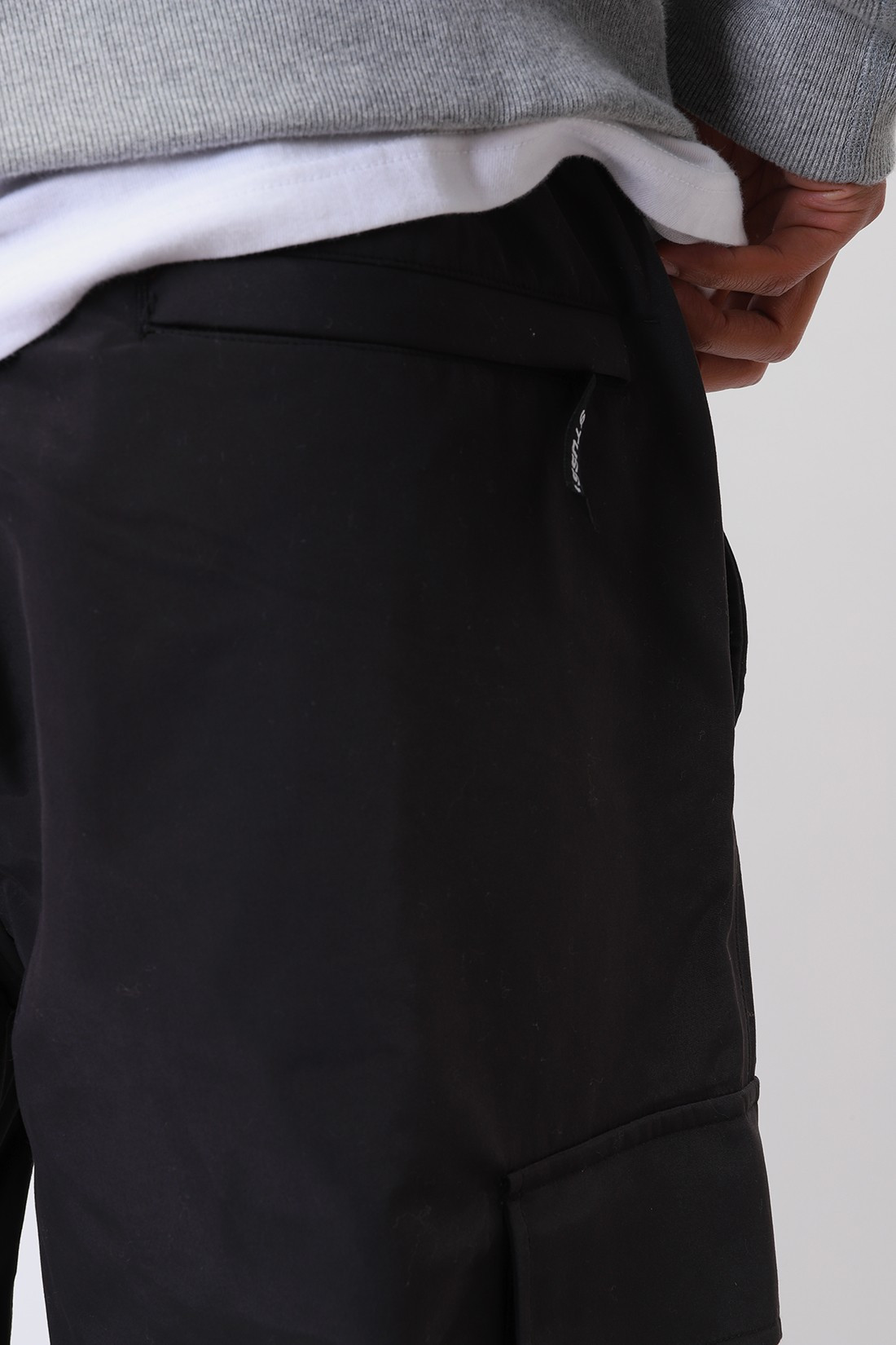STUSSY / Solid taped seam cargo pant Black