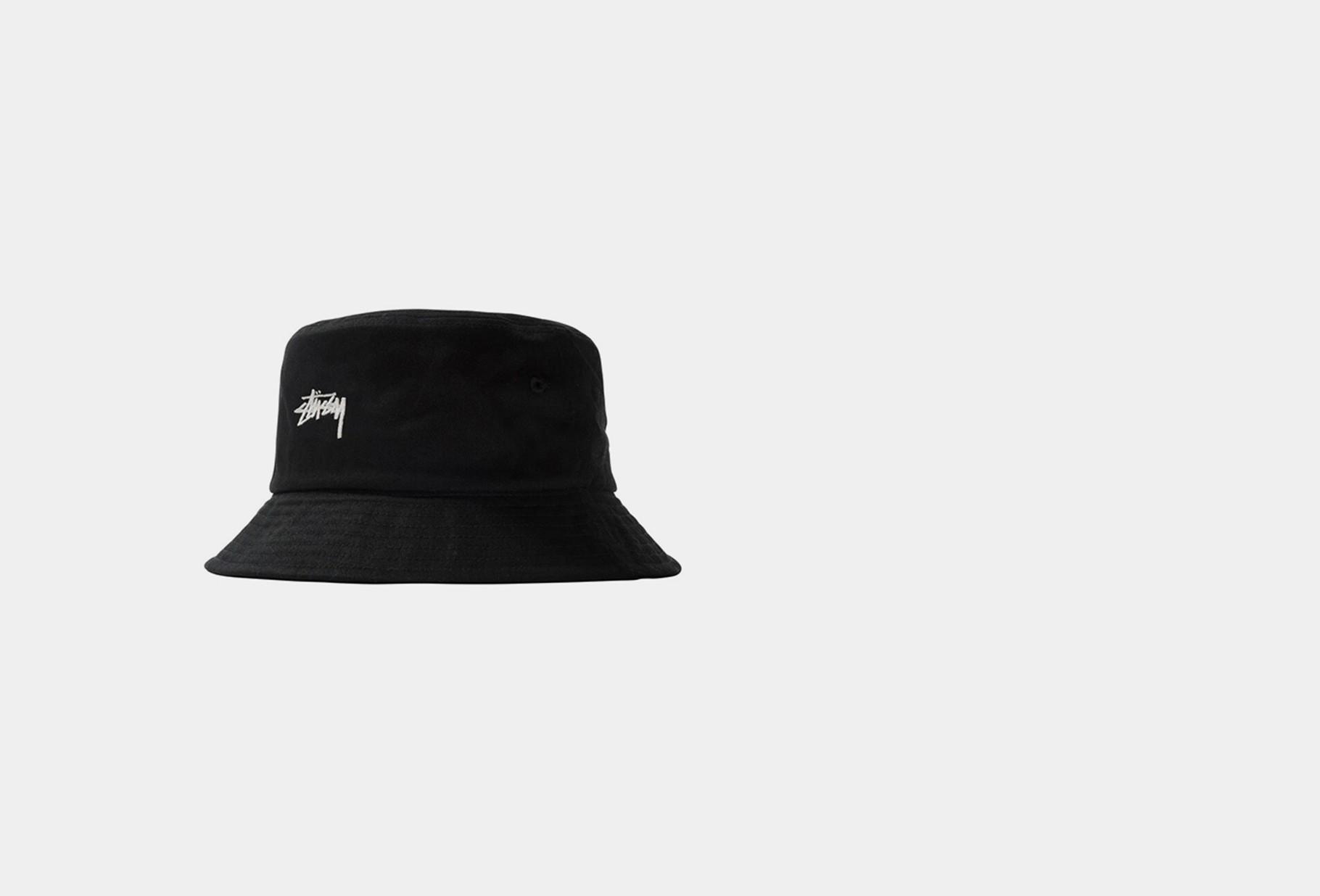 STUSSY / Stock bucket hat Black