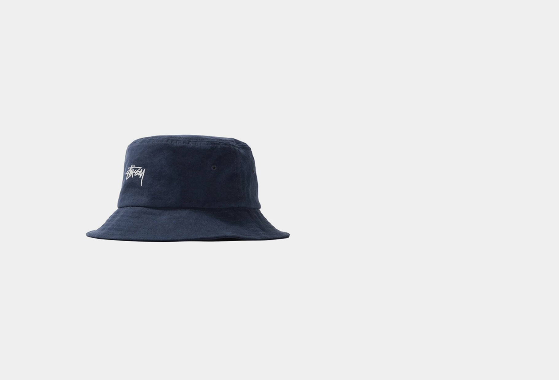 STUSSY / Stock bucket hat Navy