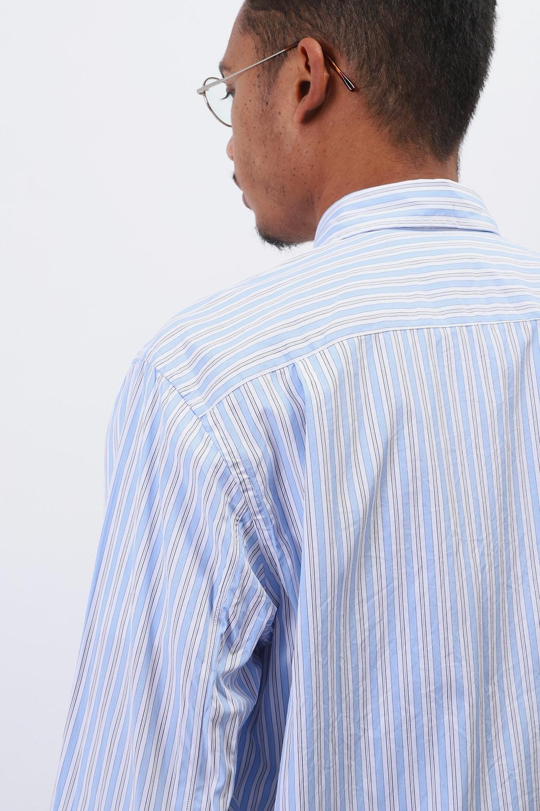 / Play mens striped shirt p1b020 Blue