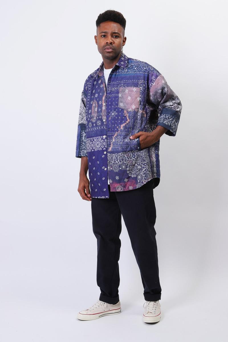 Quilt-b / e-shirt . 3q Navy