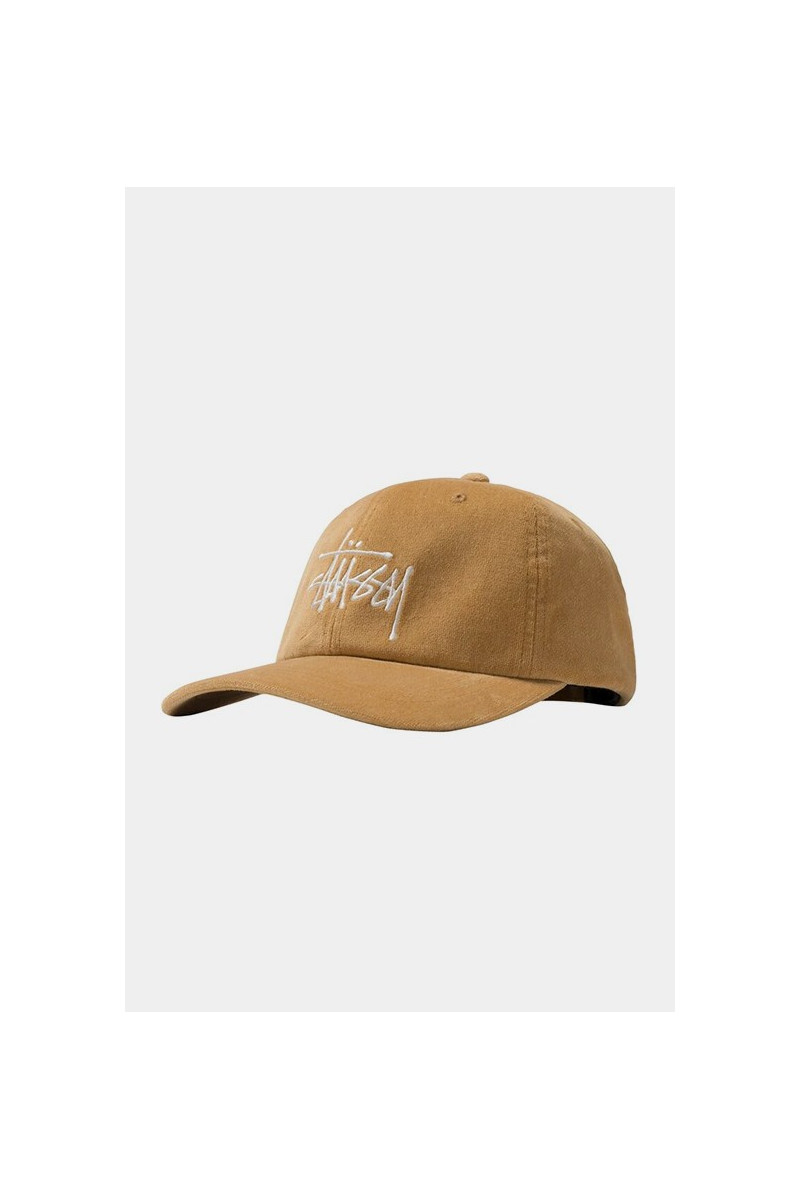 Big logo velveteen low pro cap Yellow