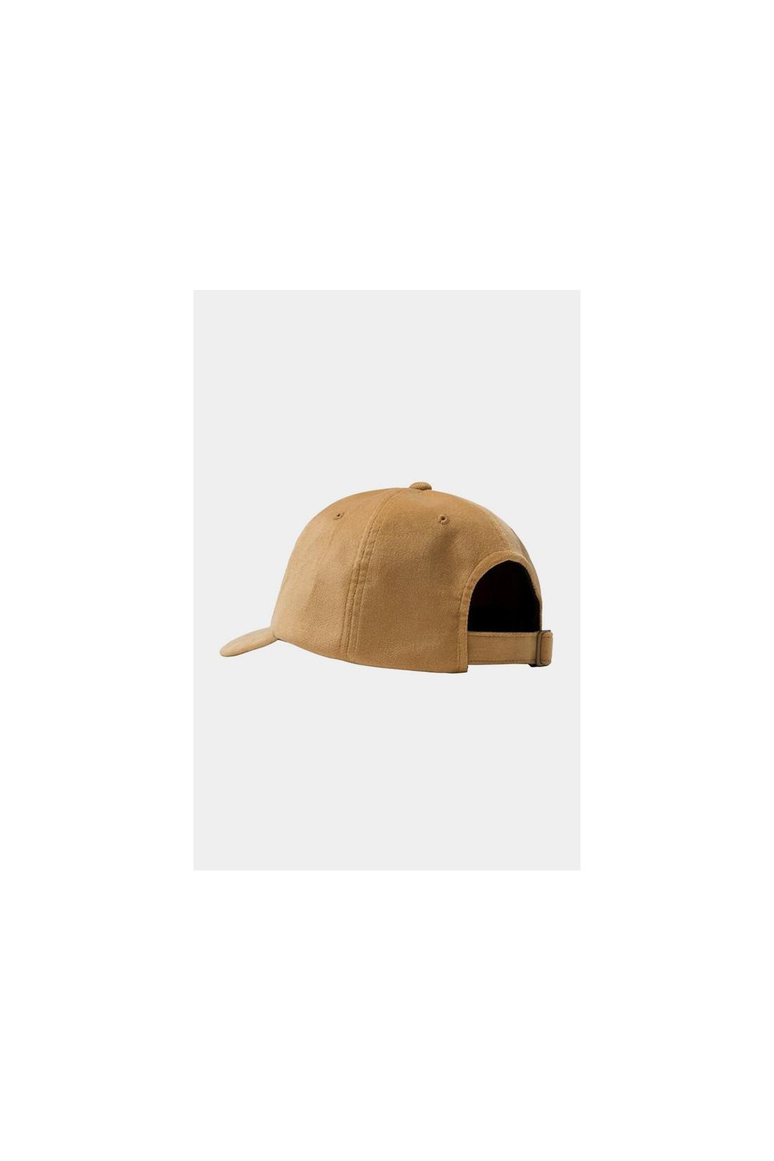 STUSSY / Big logo velveteen low pro cap Yellow