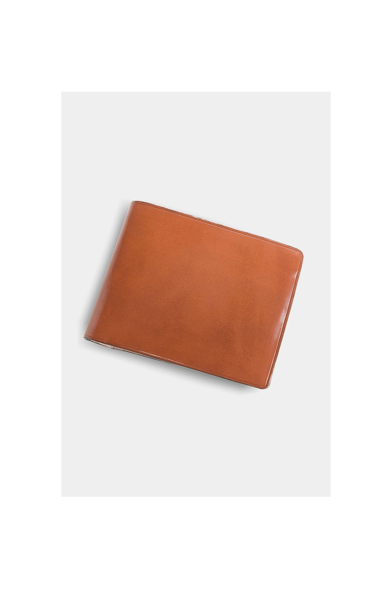 Bi-fold wallet w/ coin pocket Light brown