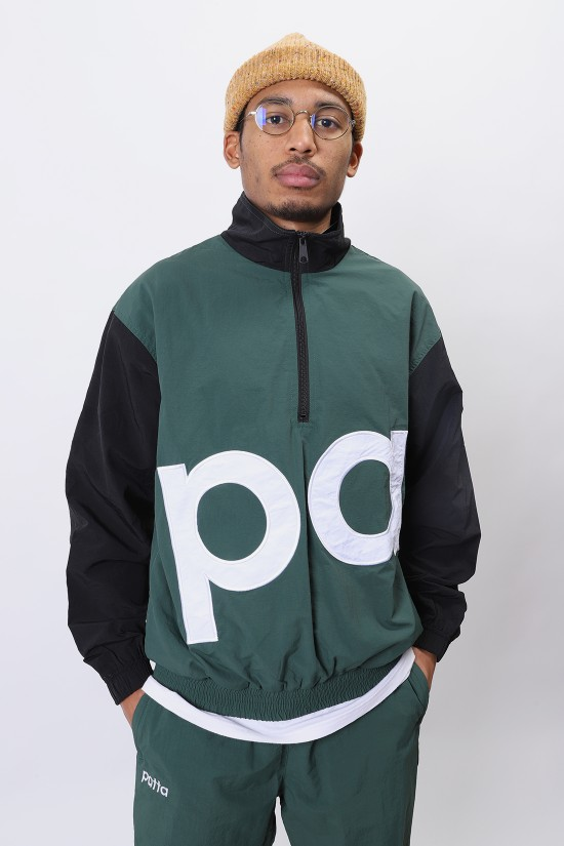 PATTA / Patta colour block tracksuit Dark green / black
