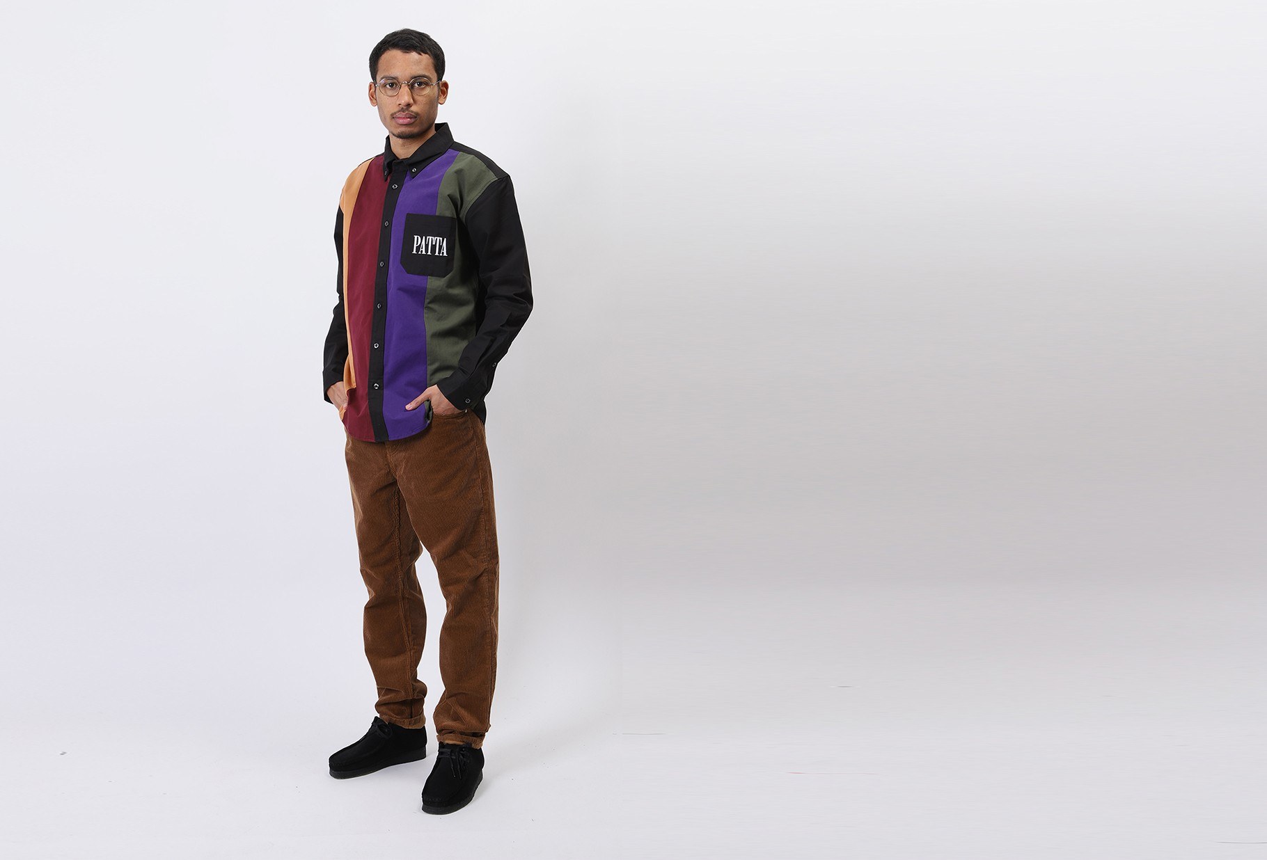 PATTA / Patta panelled relaxed button Multi