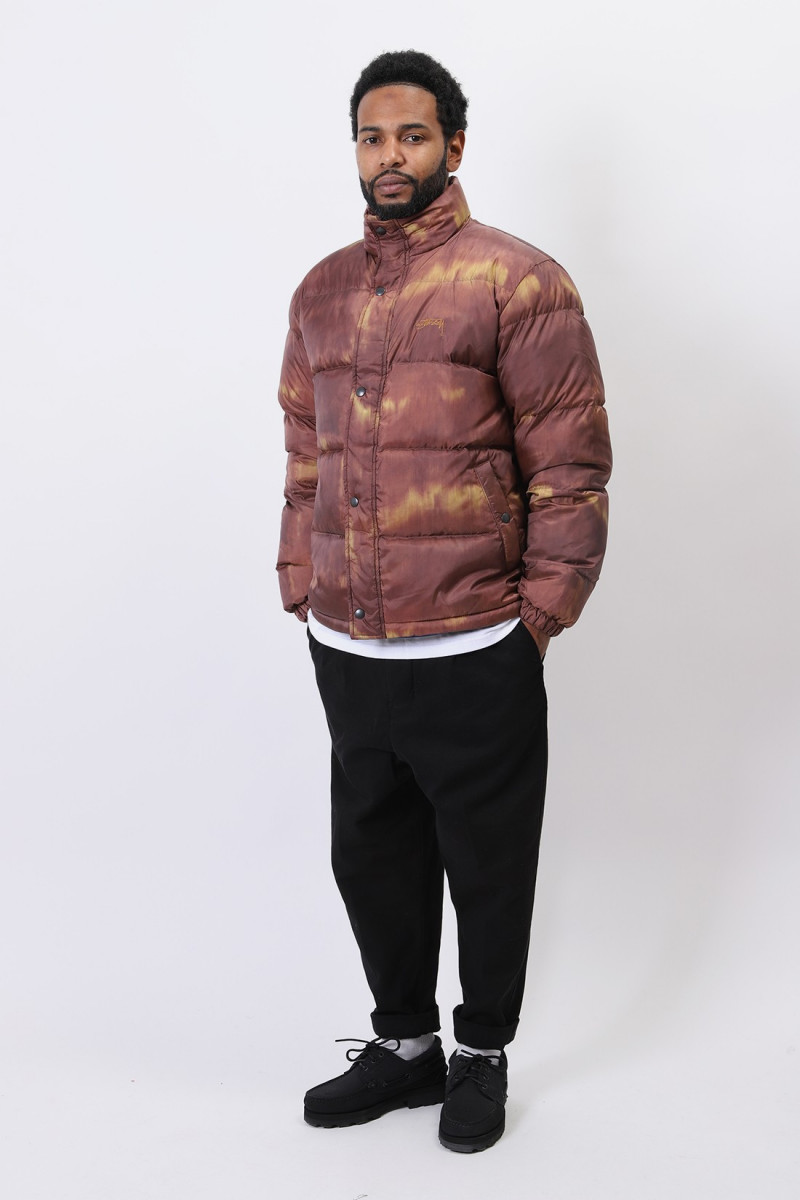 Aurora puffer jacket Brown