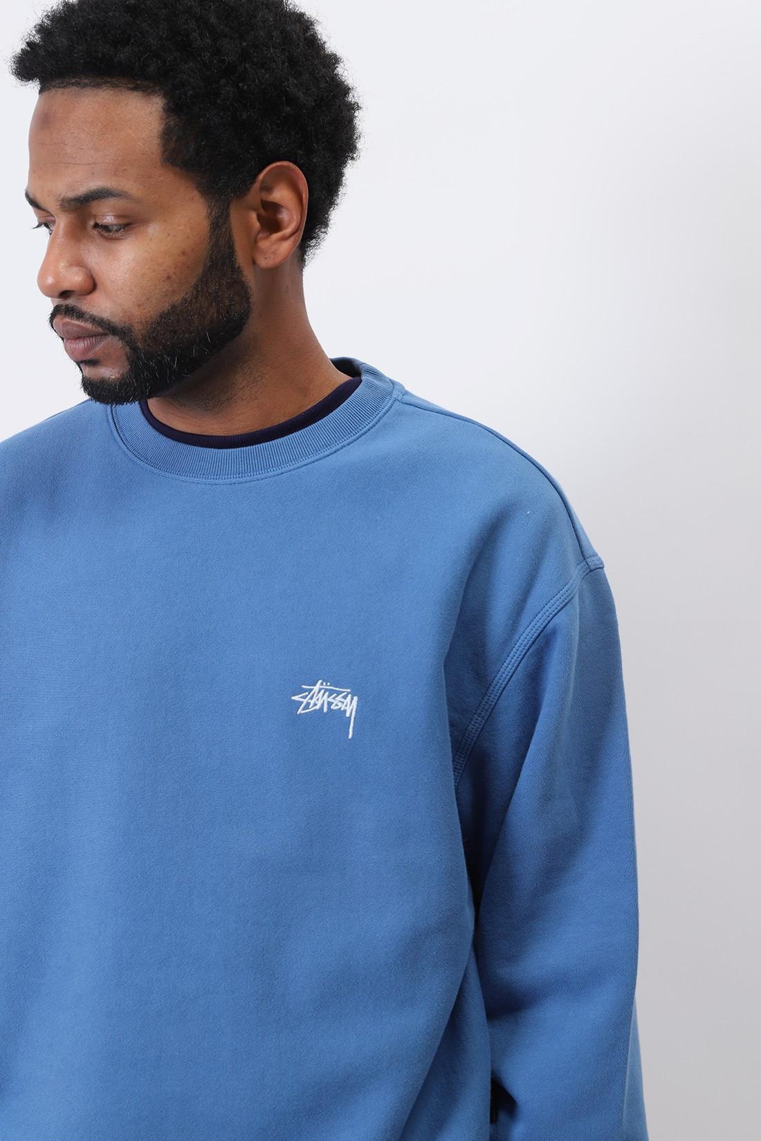 STUSSY / Stock logo crew Blue