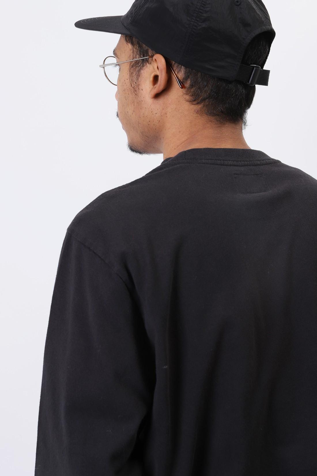 STUSSY / Stock logo ls crew Black