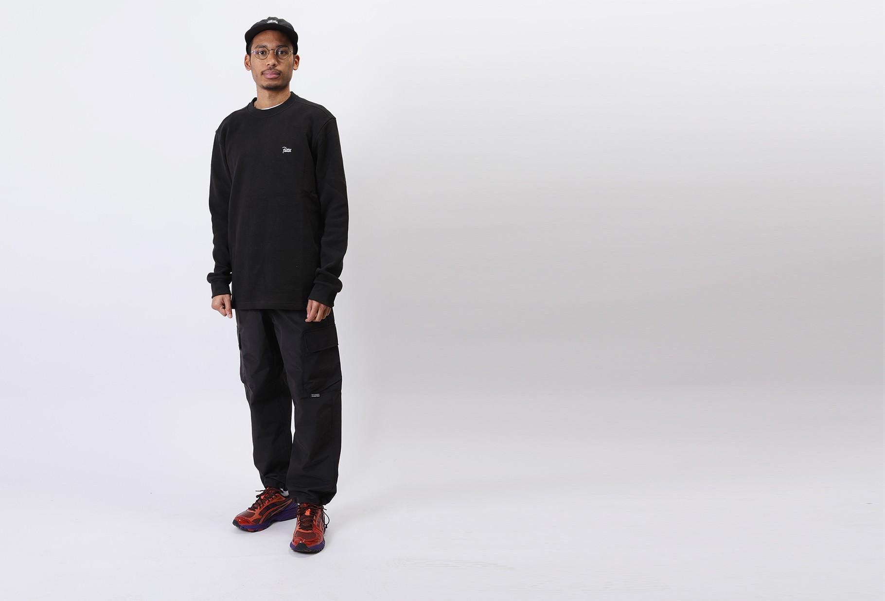 PATTA / Patta waffle thermal ls tshirt Black