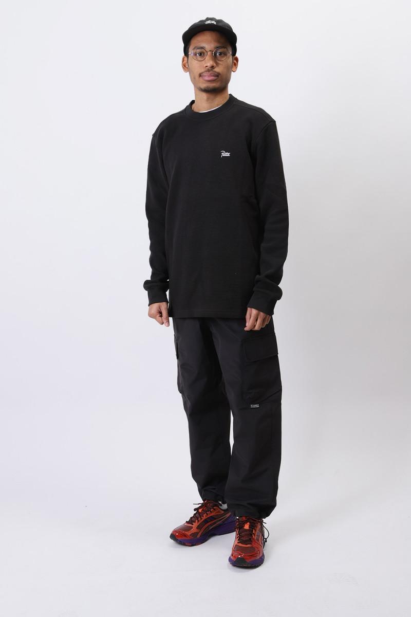 Patta waffle thermal ls tshirt Black