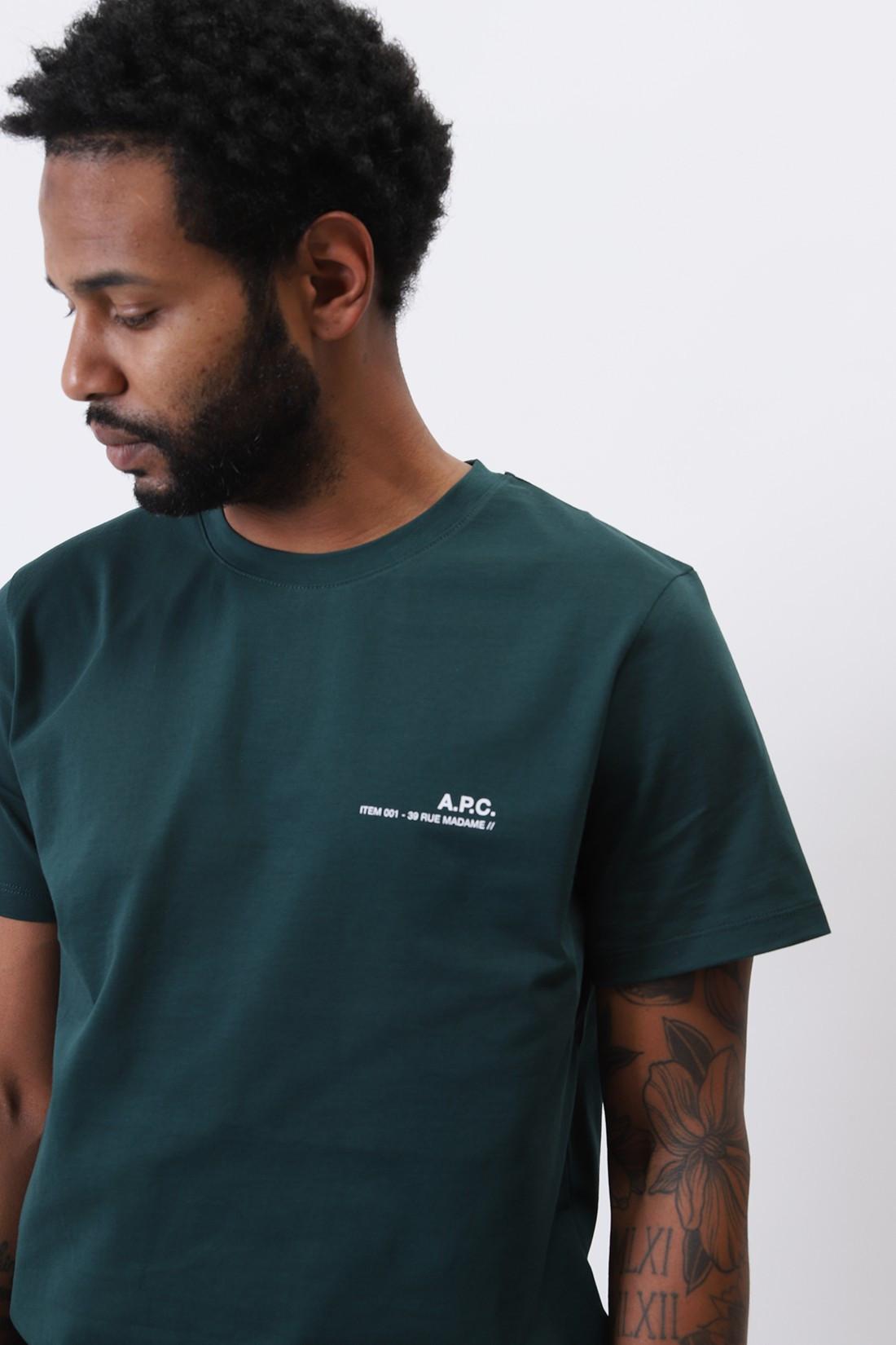 A.P.C. / T-shirt item Vert fonce