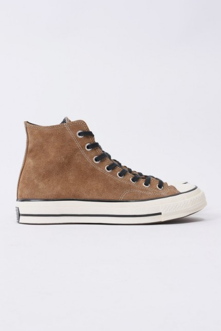 Ctas 70's hi suede leather Black clove brown