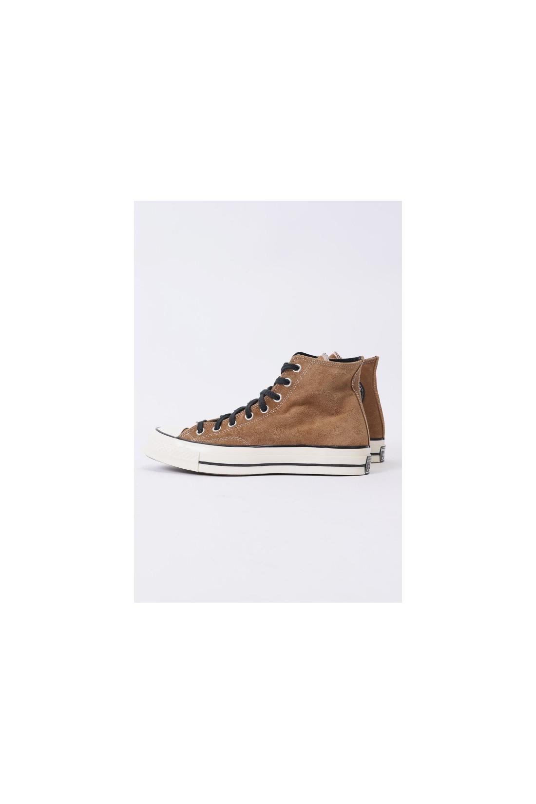 CONVERSE / Ctas 70's hi suede leather Black clove brown