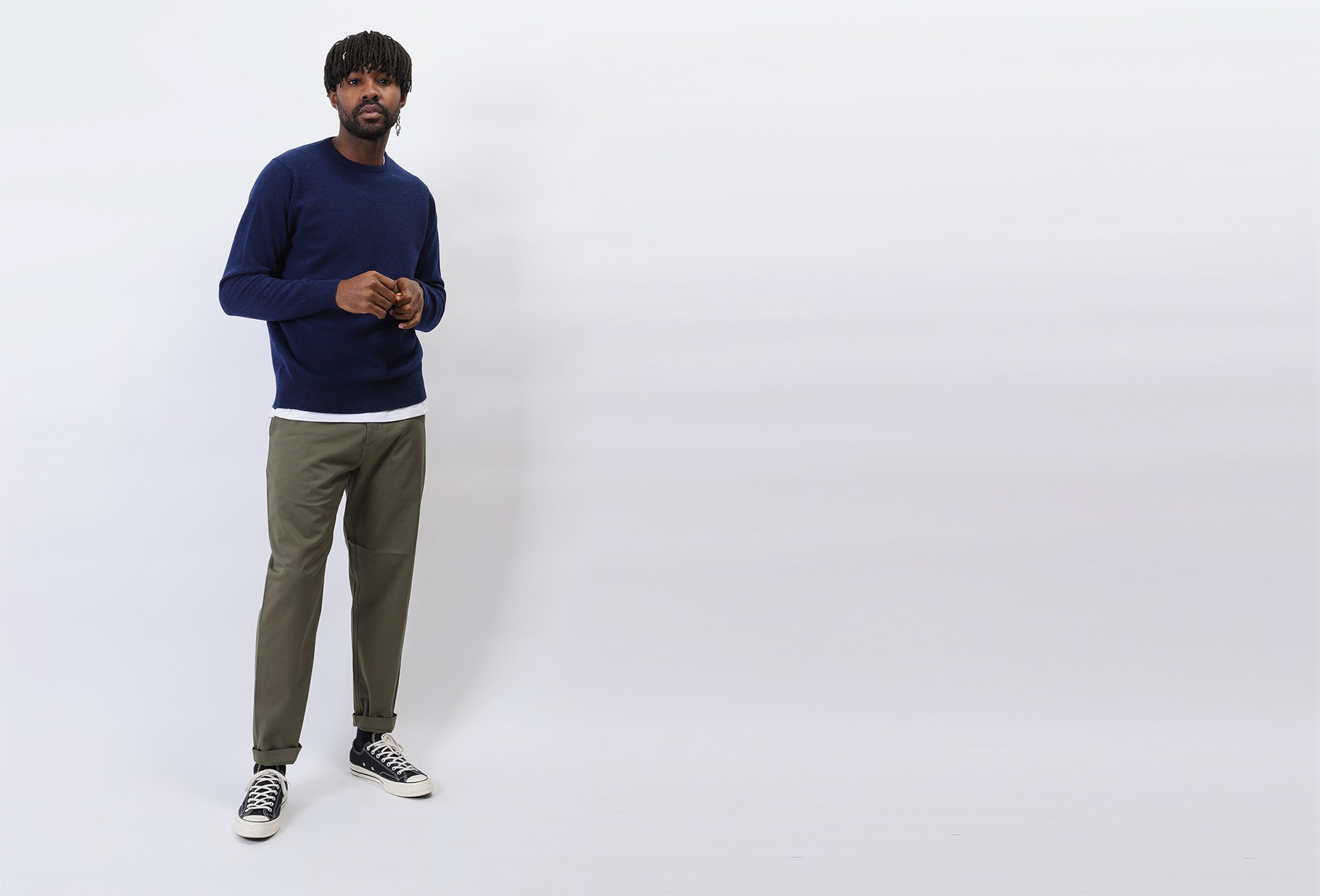 WILLIAM LOCKIE / Lambswool jumper crewneck Regatta