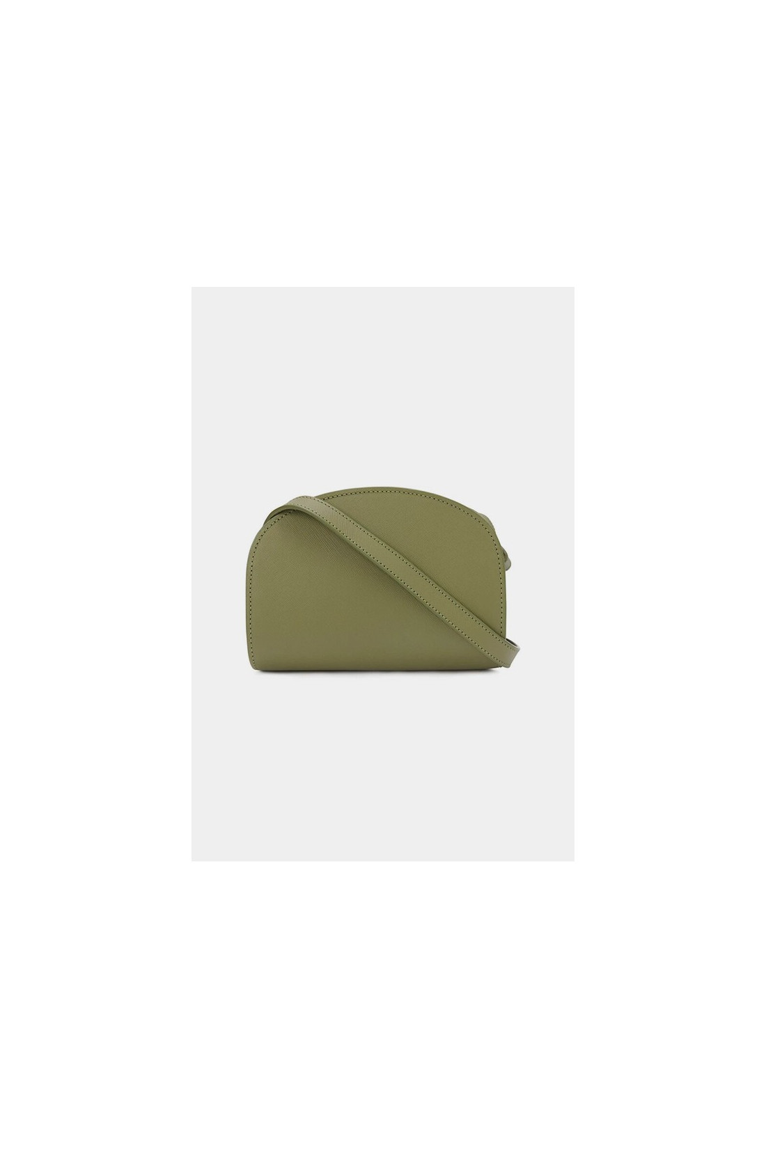 A.P.C. FOR WOMAN / Sac demi-lune mini embosse Tilleul