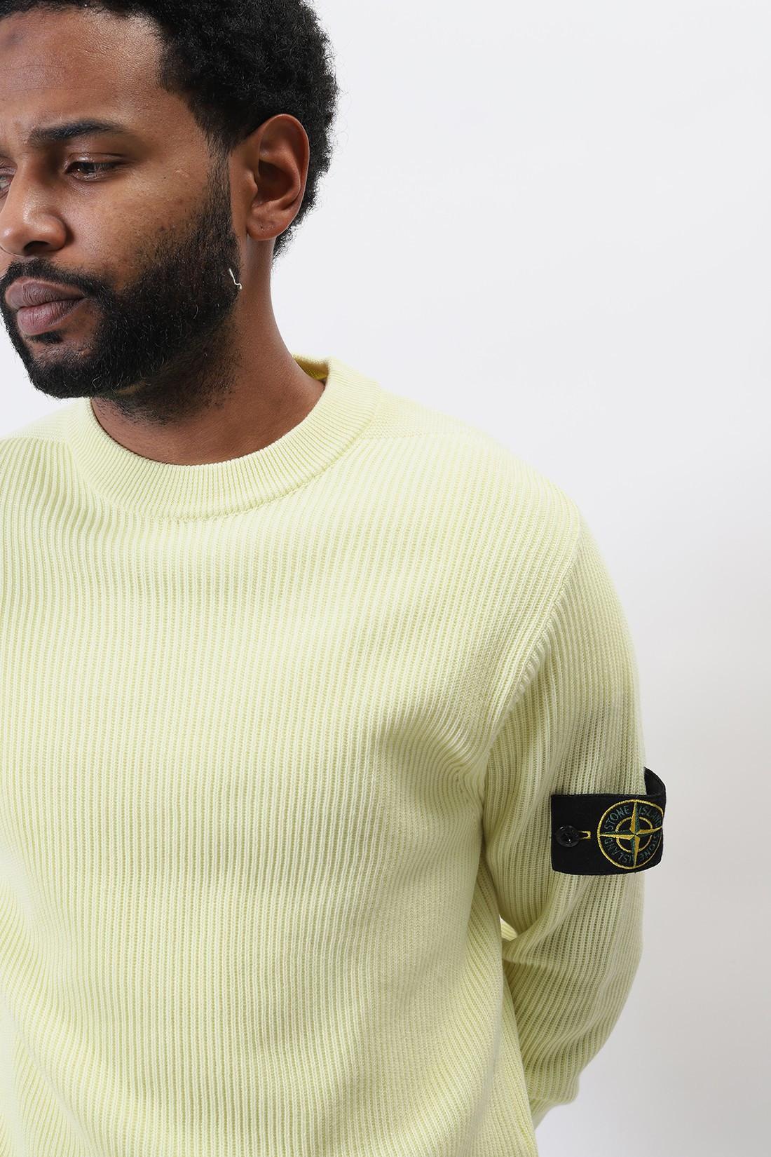 STONE ISLAND / 552d8 crewneck knitwear v0031 Limone