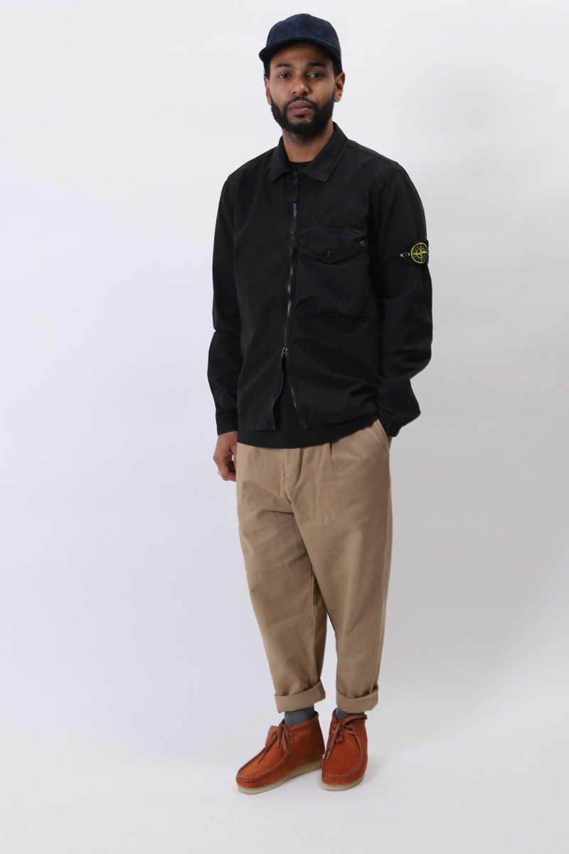 117wn overshirt v0129 Nero