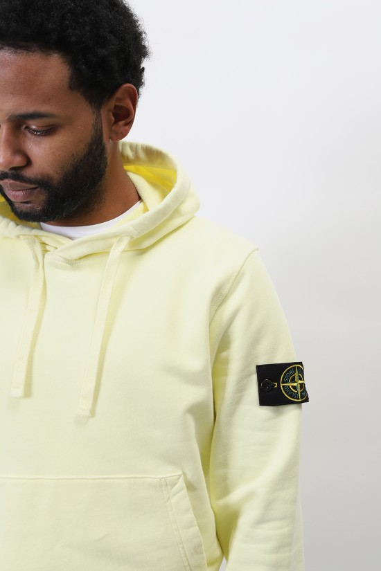 STONE ISLAND / 64151 hooded sweater v0031 Limone
