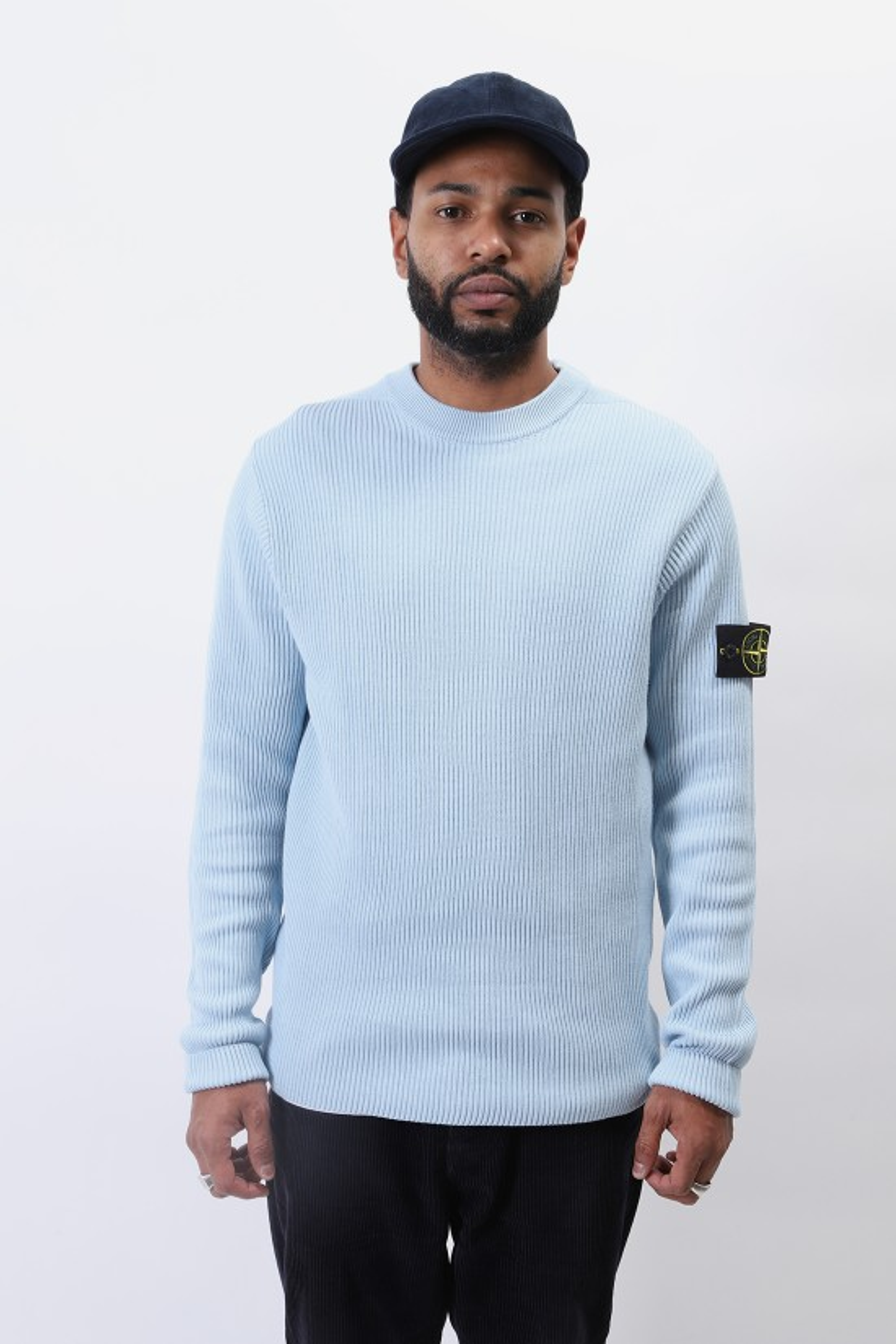 STONE ISLAND / 552d8 crewneck knitwear v0041 Cielo