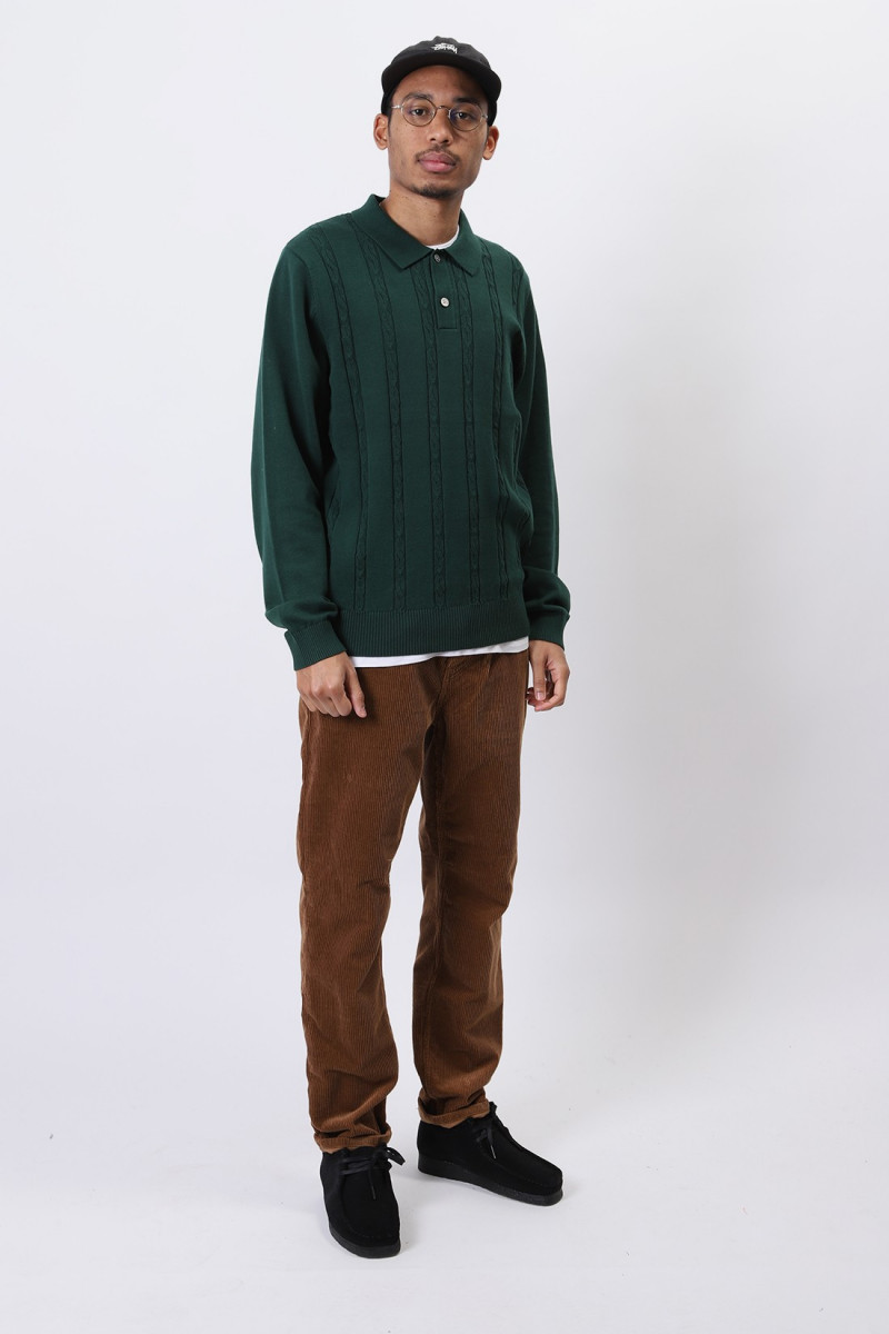 S chain ls knit polo Forest