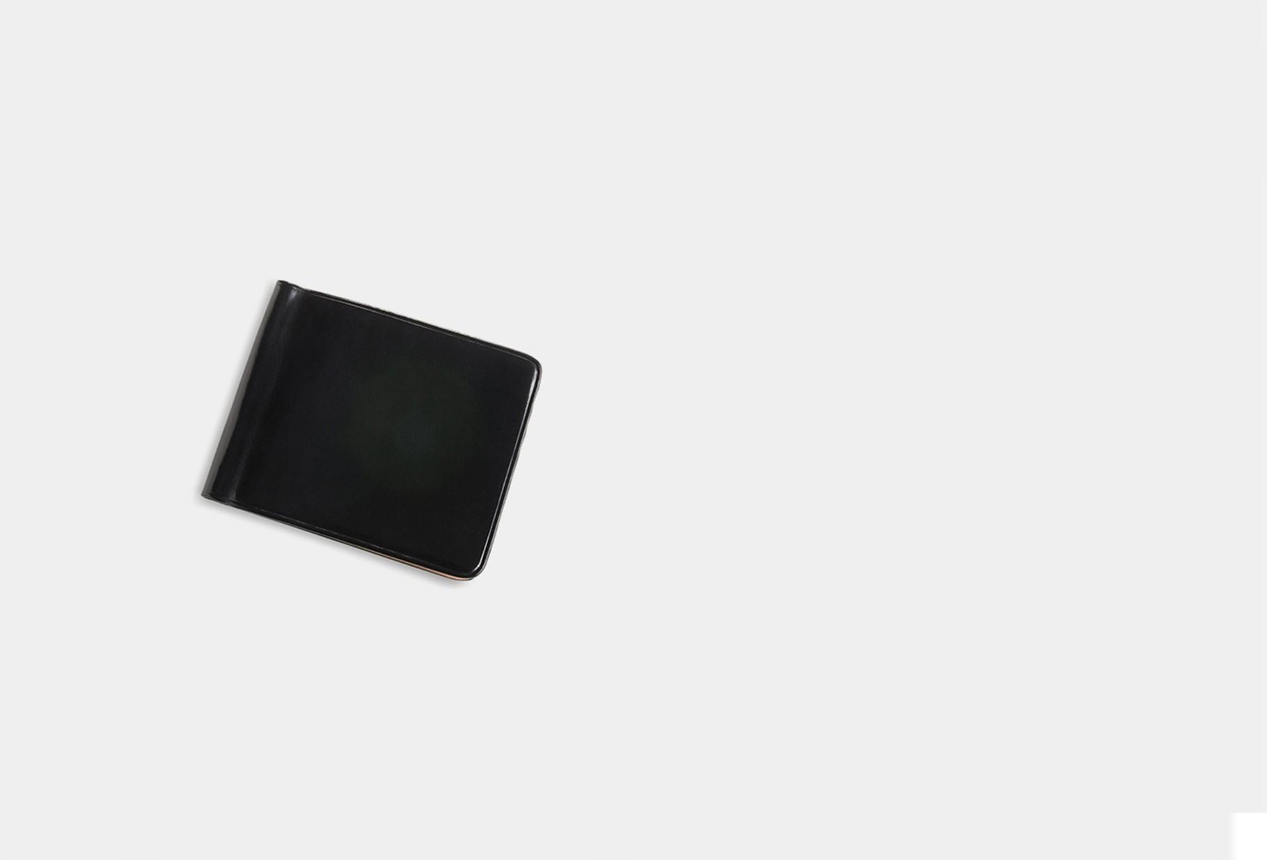 IL BUSSETTO / Bill clip wallet Black