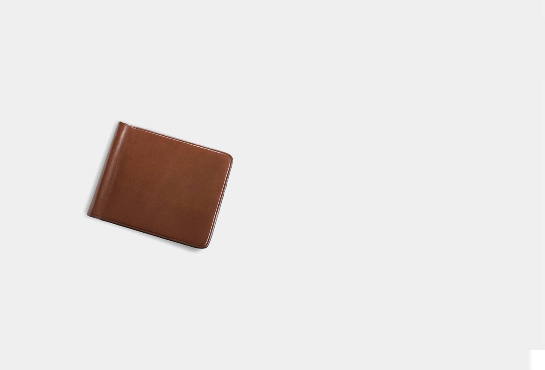 IL BUSSETTO / Bill clip wallet Cappuccino
