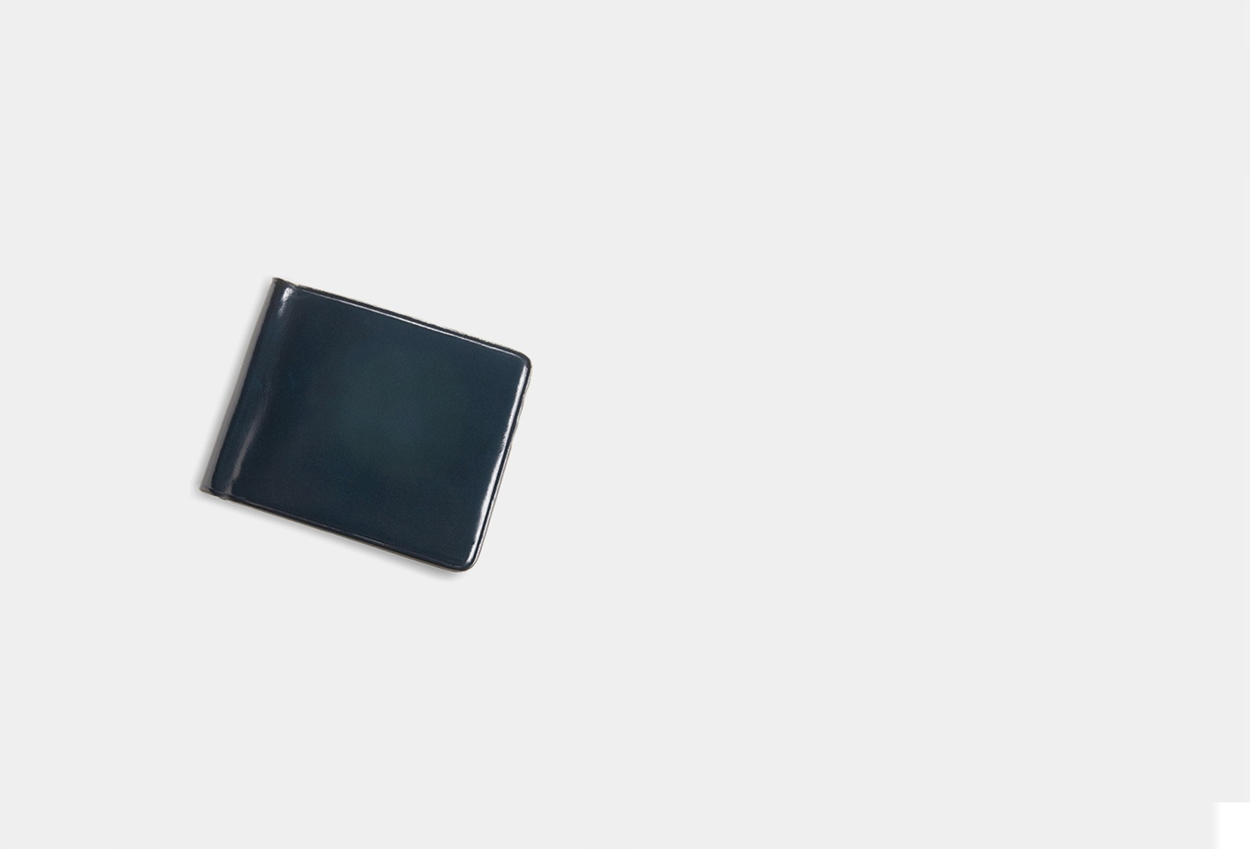 IL BUSSETTO / Bill clip wallet Navy blue