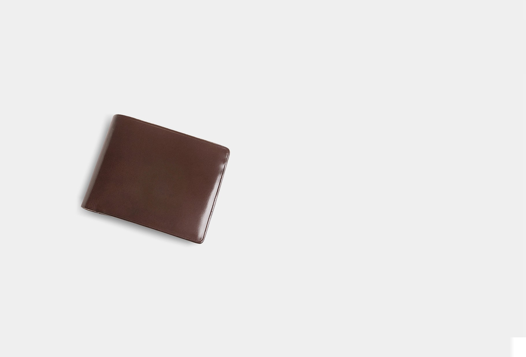 IL BUSSETTO / Bi-fold wallet with snap Dark brown