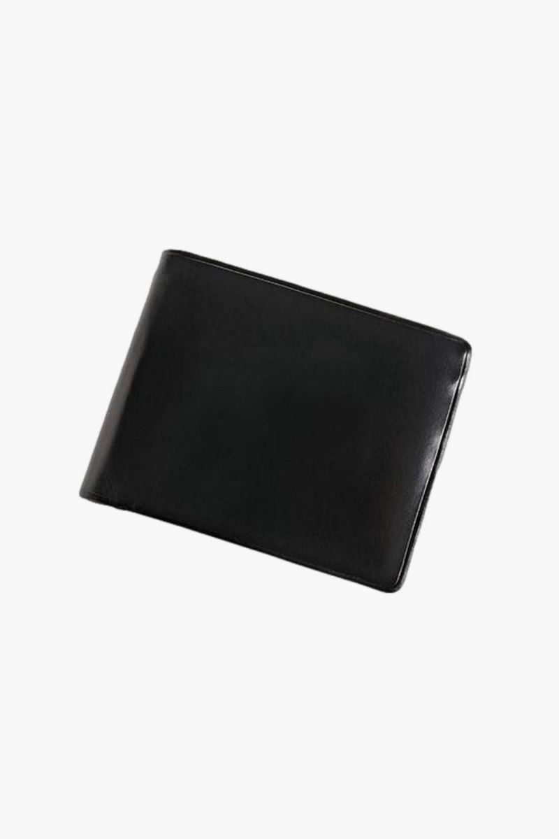 Bi-fold wallet with snap Black