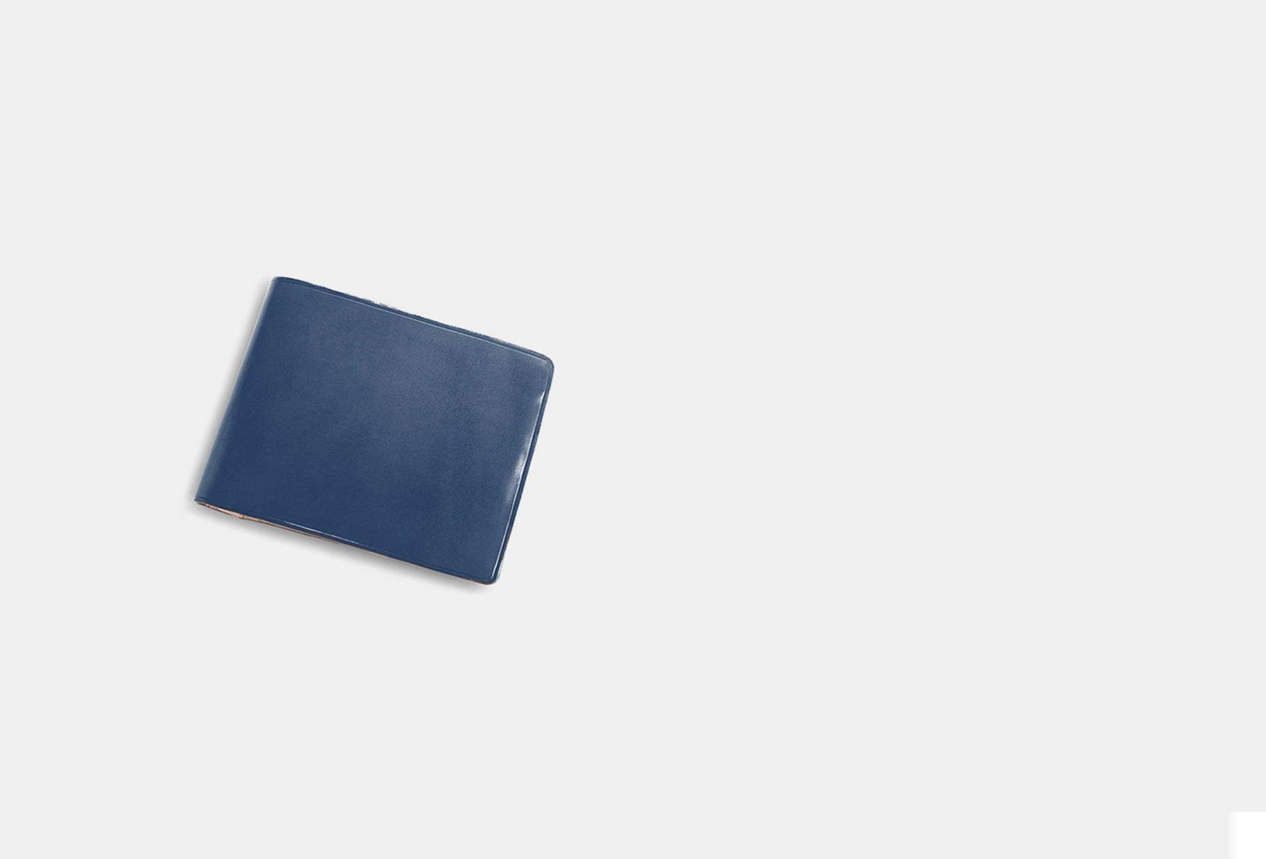 IL BUSSETTO / Bi-fold wallet with snap Poseidon blue