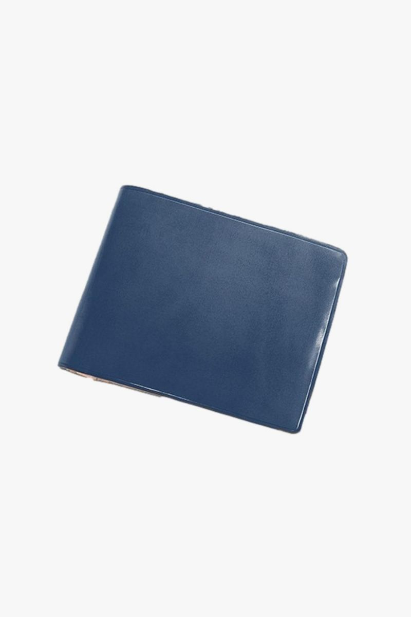 Bi-fold wallet with snap Poseidon blue