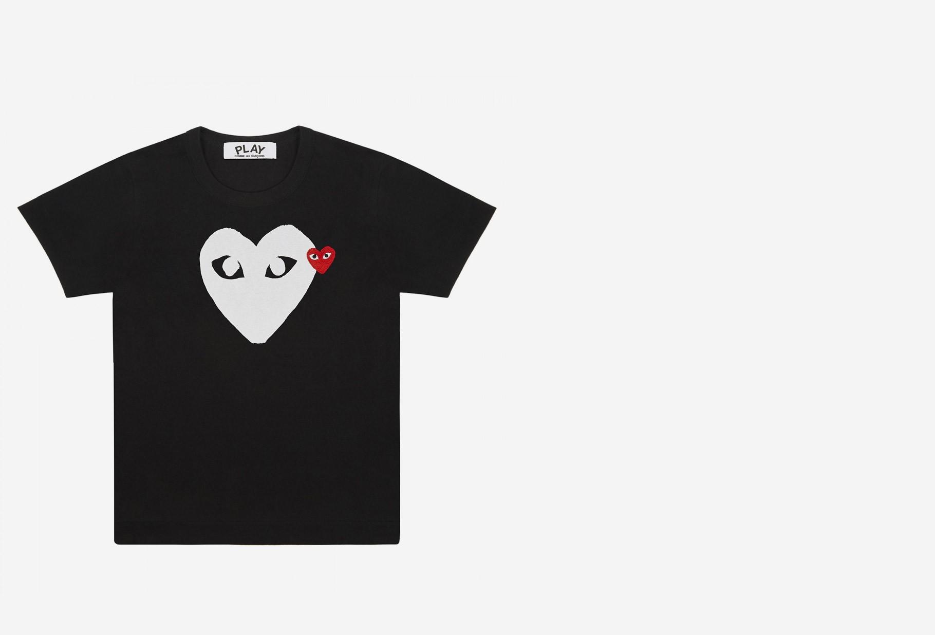 COMME DES GARÇONS PLAY / Red play t-shirt white heart Black