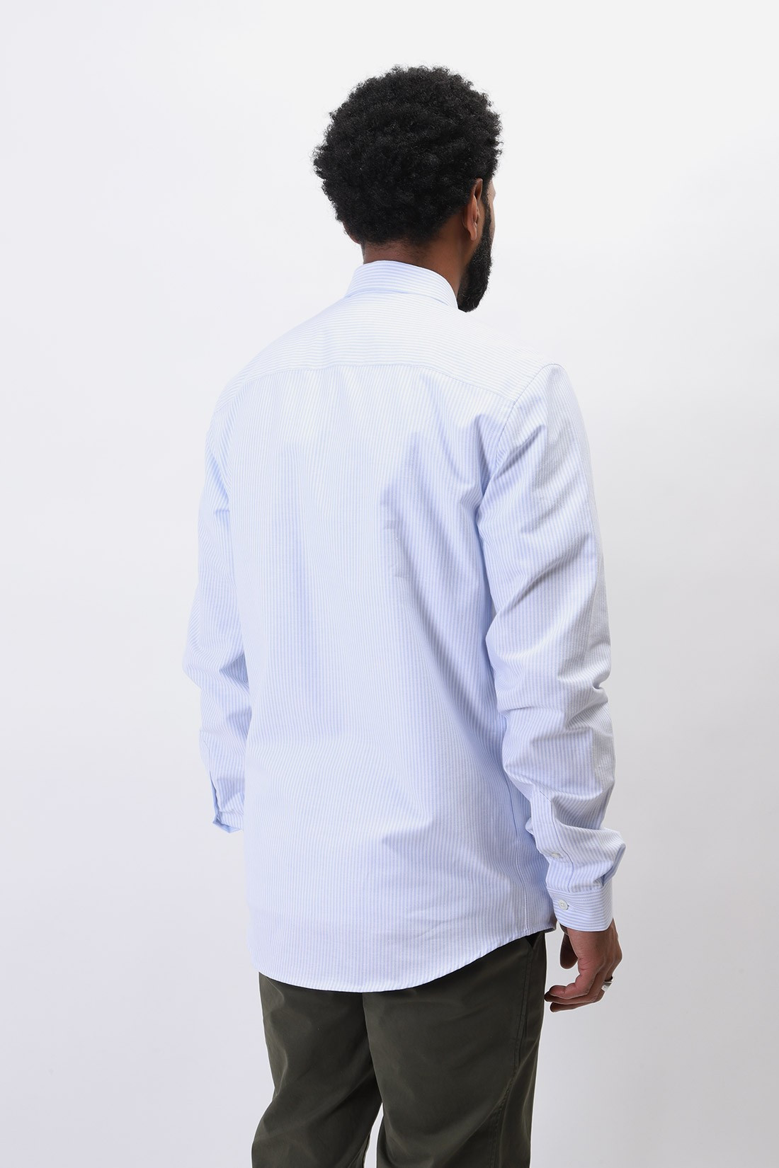 AMI / Chemise rayée ami de coeur Bleu/blanc