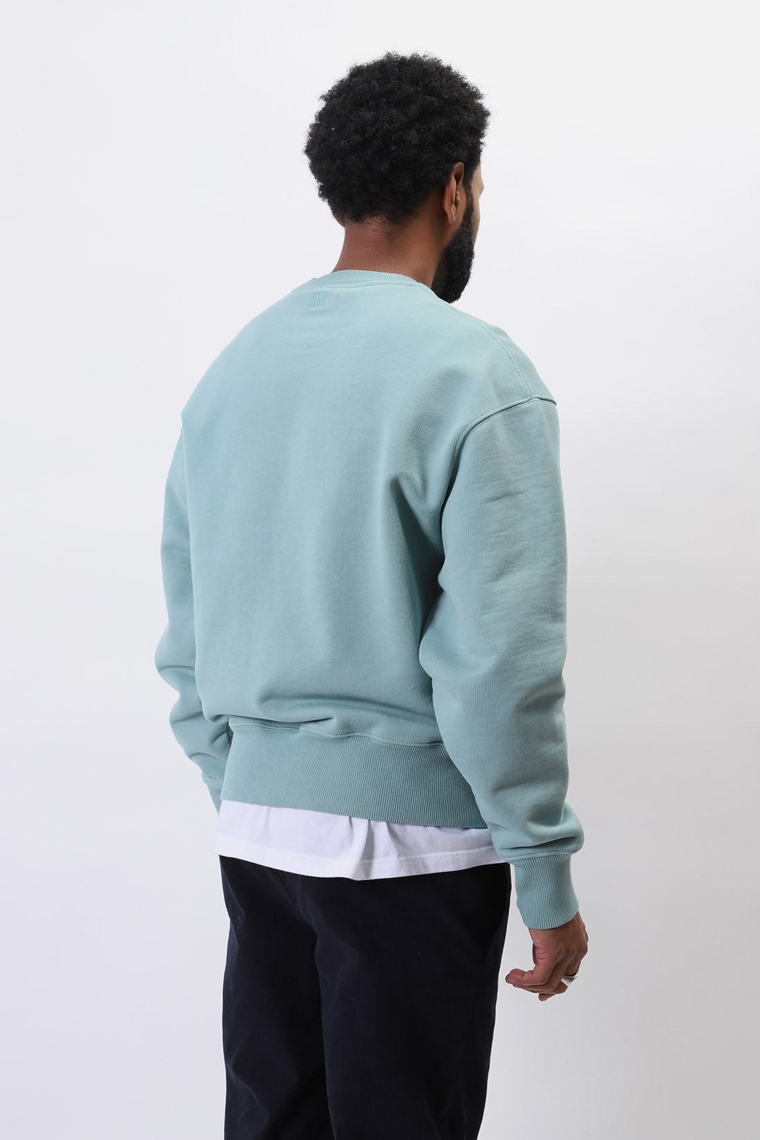AMI / Sweatshirt ami de coeur Green aqua