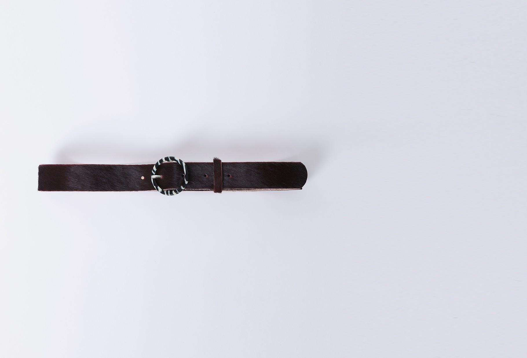 BELLEROSE FOR WOMAN / Sabeau belt Burgundy