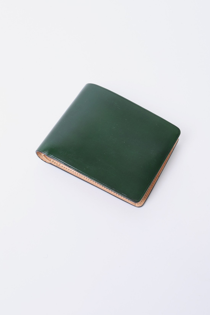 Bi-fold wallet w/ coin pocket Forest green