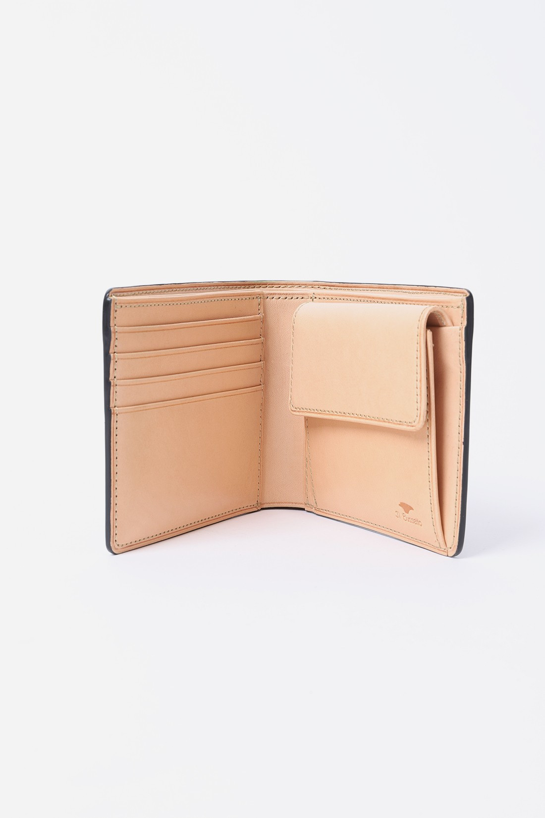 IL BUSSETTO / Bi-fold wallet w/ coin pocket Forest green