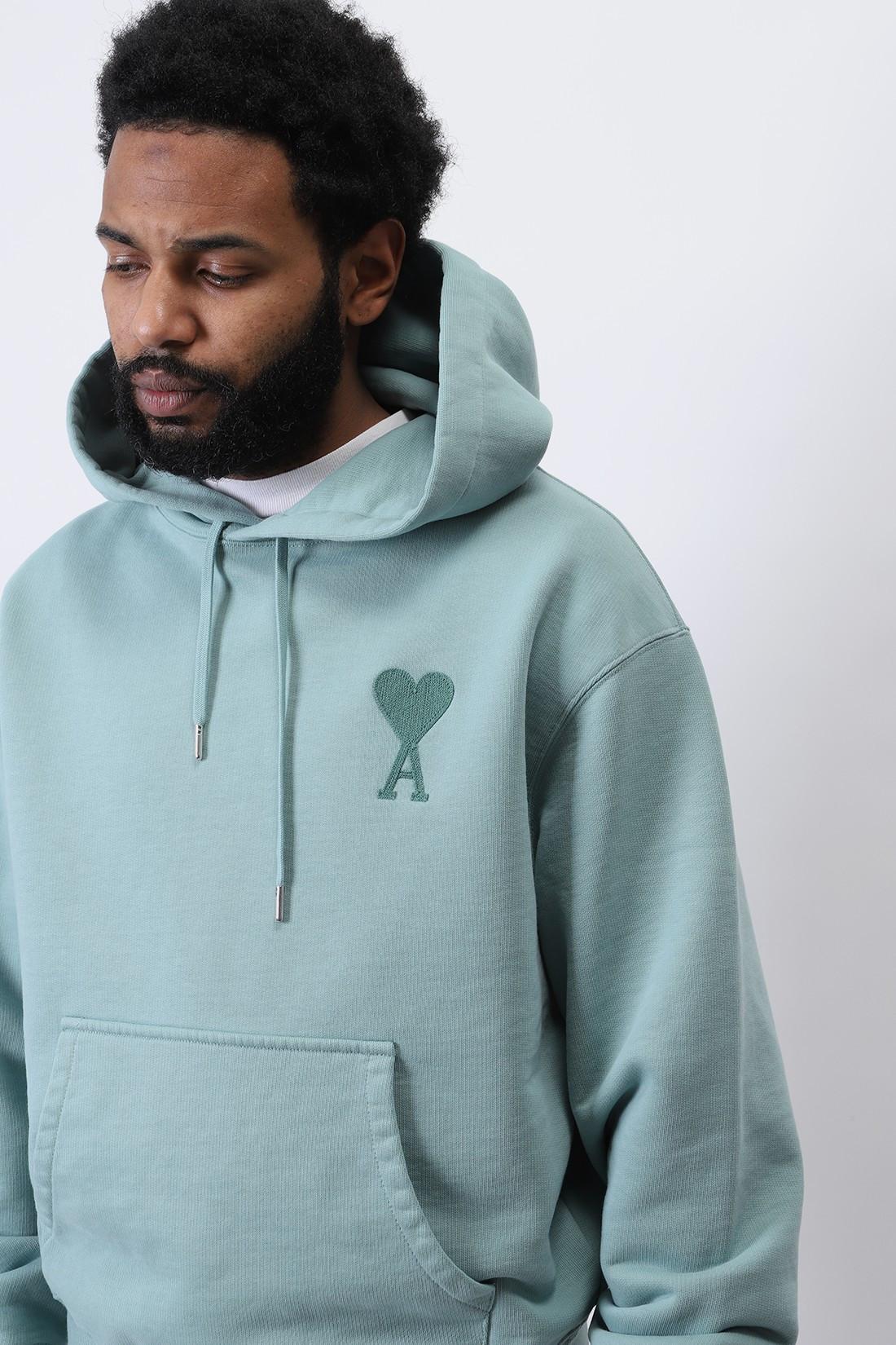 AMI / Hoodie ami de coeur Green aqua