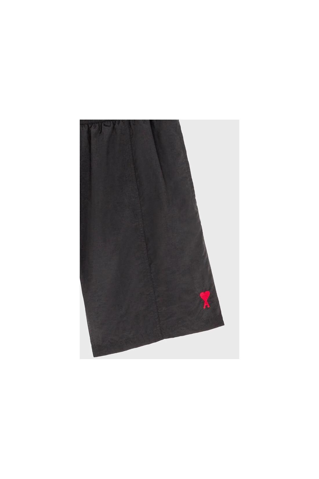 AMI / Ami de coeur long swim shorts Noir