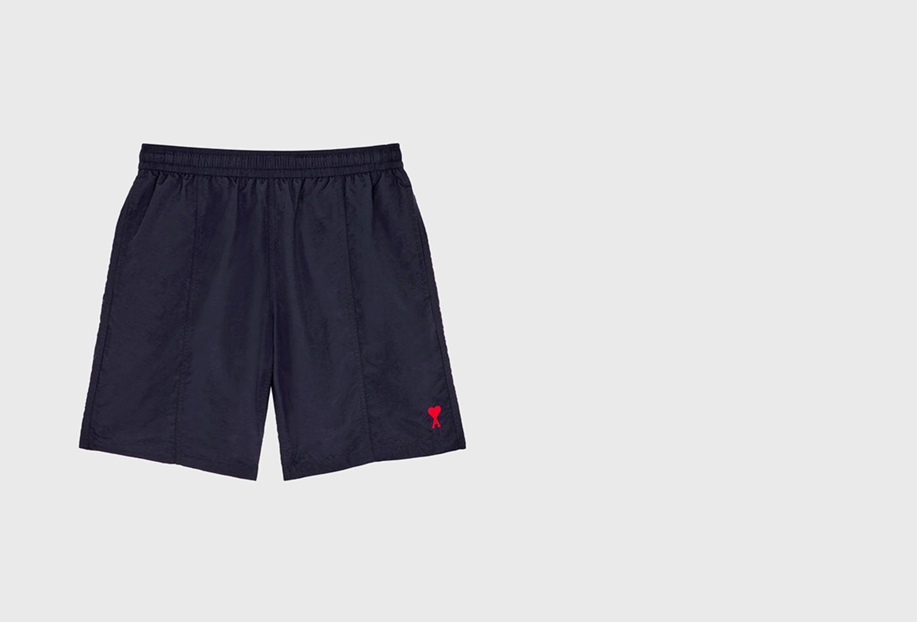 AMI / Ami de coeur long swim shorts Marine