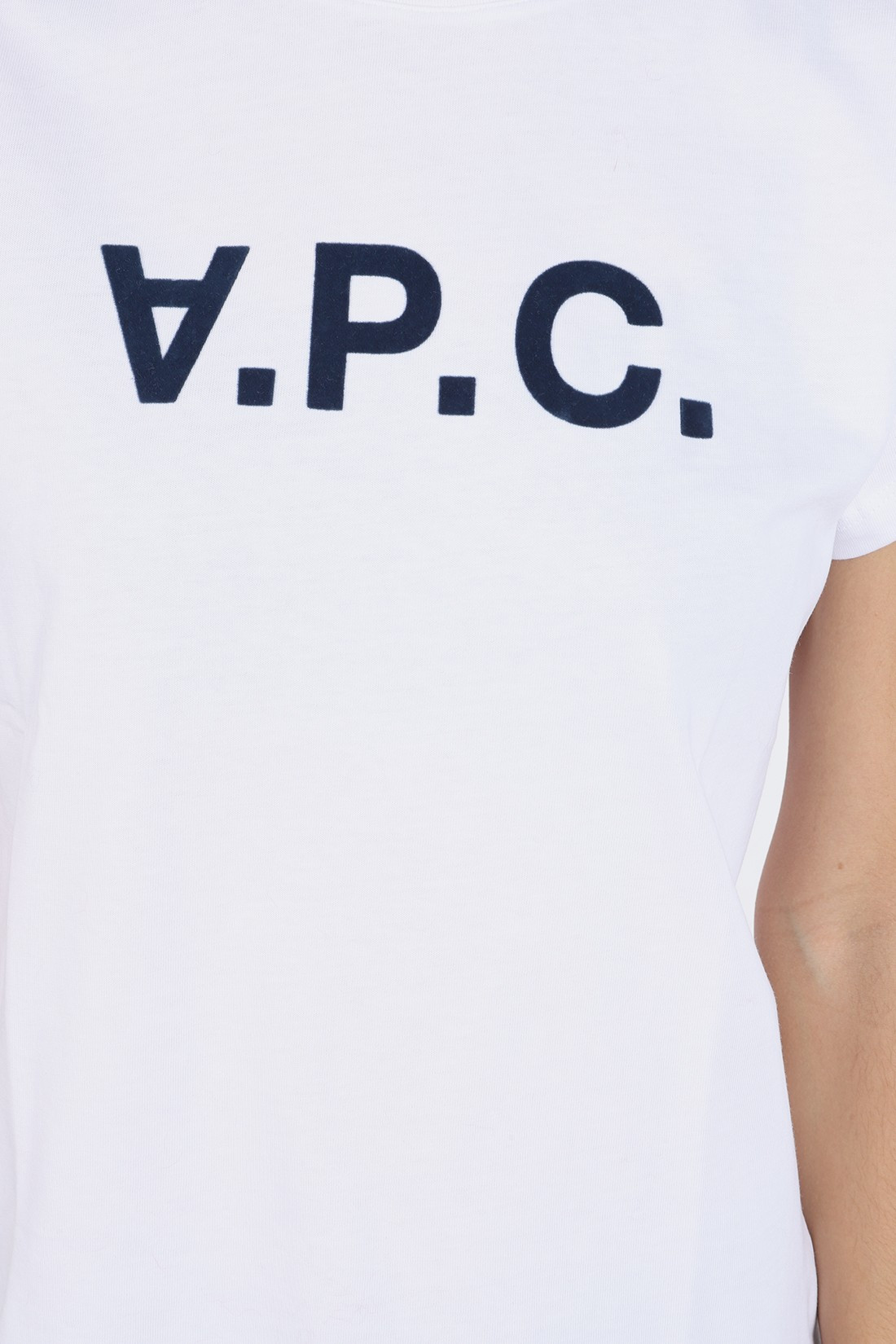 A.P.C. FOR WOMAN / T-shirt vpc blanc Navy