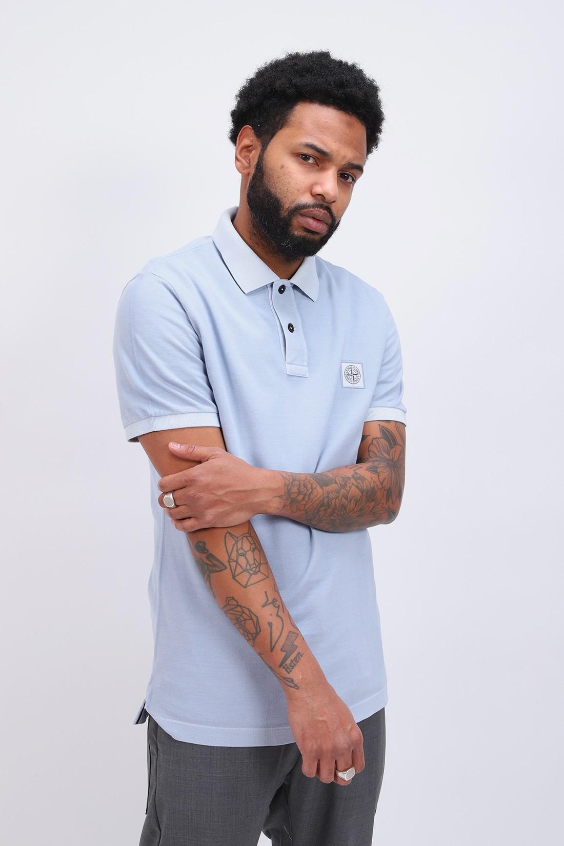 STONE ISLAND / 22s67 polo shirt v0041 Cielo