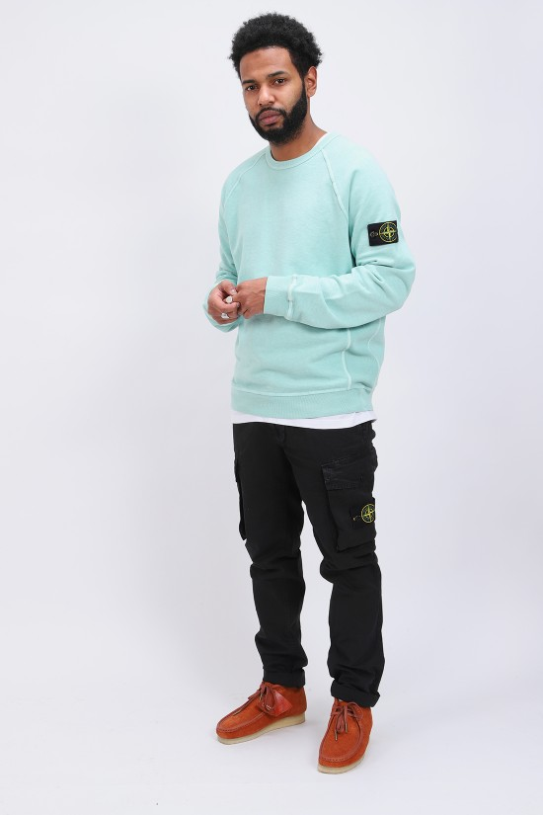 STONE ISLAND / 66060 raglan sweater v0144 Acqua