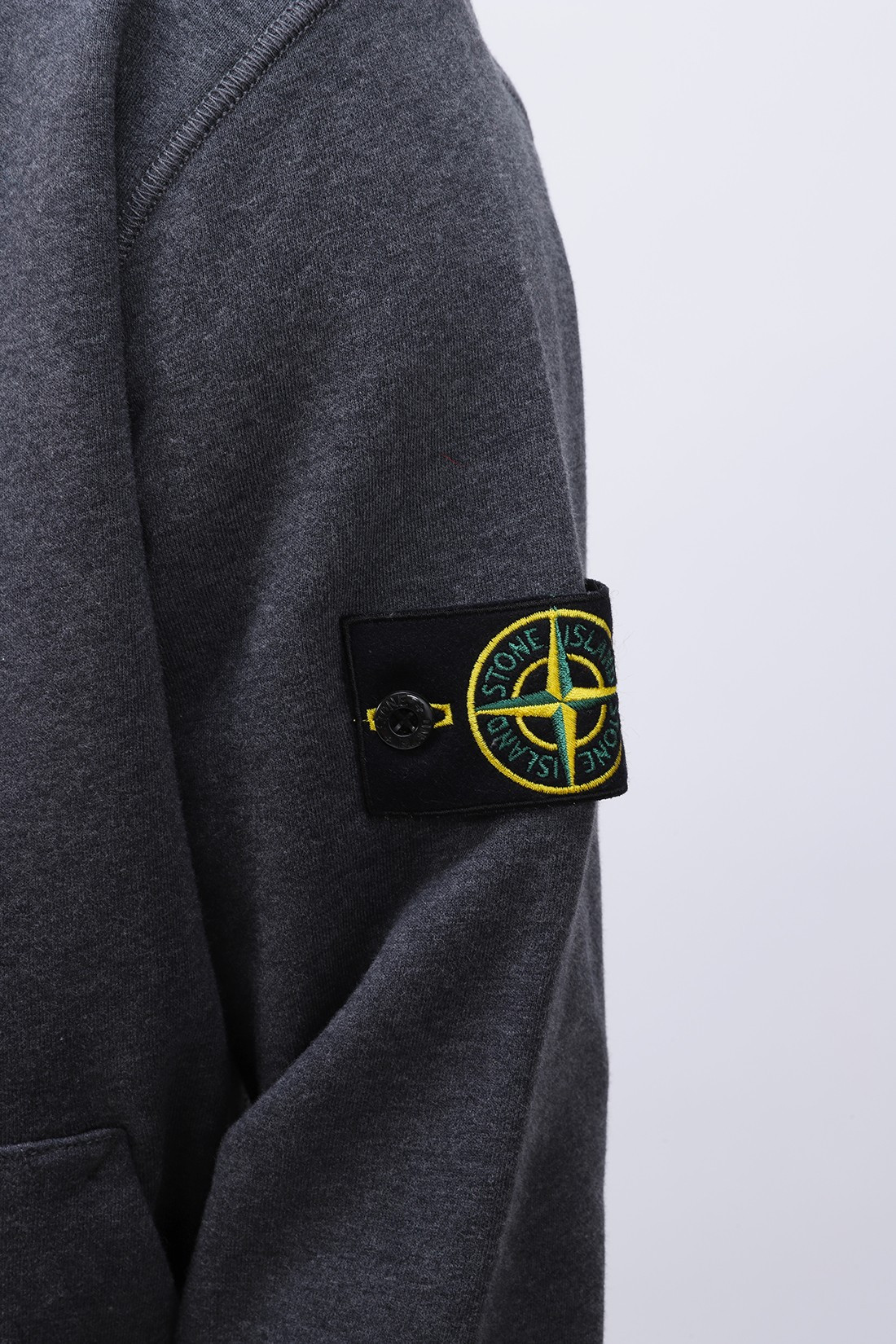 STONE ISLAND / 64251 hooded zip sweater v0m67 Fumo melange