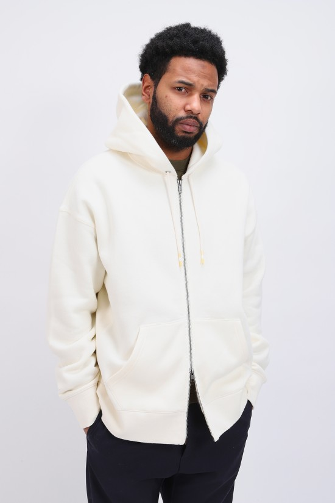 / Lmc zip hoodie Egret